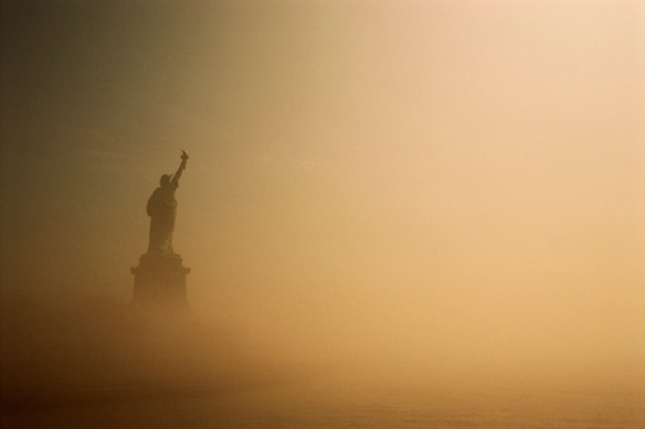 Statue of Liberty on a Misty Day
