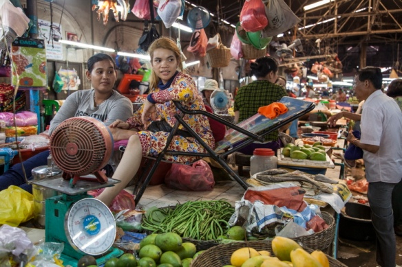Food market in Siem Reap, Cambodia.